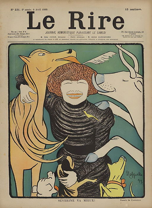 Illustrazione per The Laugh da after Leonetto Cappiello