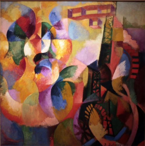 Soleil, Tour, Aeroplanen English: Sun, Tower, Airplanen da Robert Delaunay