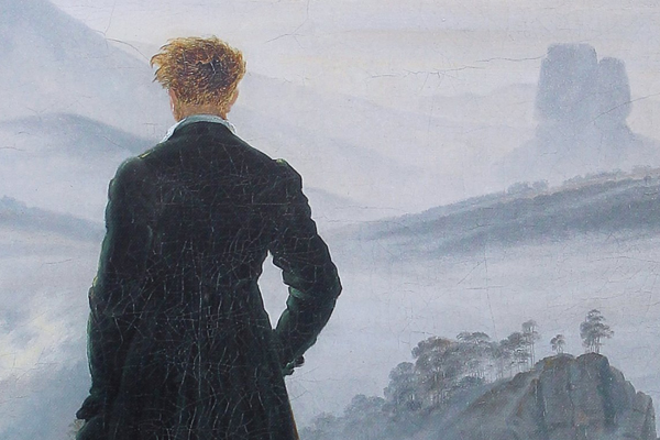 Der Wanderer über dem Nebelmeer Detailausschnitt